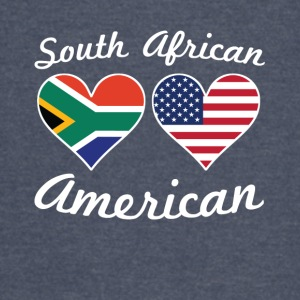 South African American Flag Hearts - Vintage Sport T-Shirt