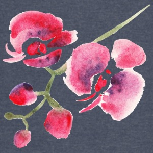 Flower orchid plant beautiful watercolor vector - Vintage Sport T-Shirt