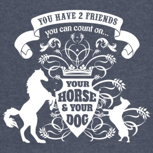 Horse Dog Friends Love - Vintage Sport T-Shirt