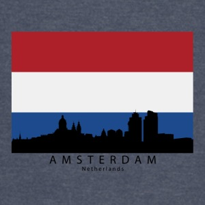 Amsterdam Netherlands Skyline Dutch Flag - Vintage Sport T-Shirt