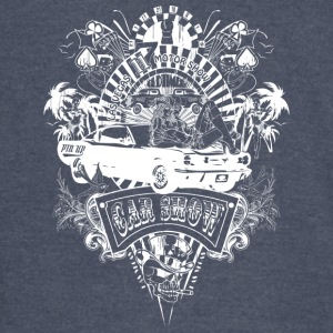 motor_show_cars_and_girls_white - Vintage Sport T-Shirt