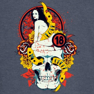 love is cruel 18 girl and skull with roses - Vintage Sport T-Shirt