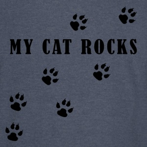 My Cat Rocks in Black - Vintage Sport T-Shirt