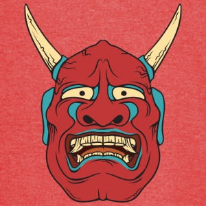 red_demon_with_horns - Vintage Sport T-Shirt