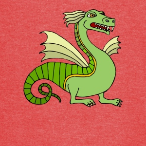 Green Chinese Dragon - Vintage Sport T-Shirt
