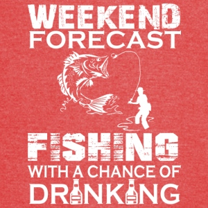 Weekend Forecast Fishing With Drinking T Shirt - Vintage Sport T-Shirt