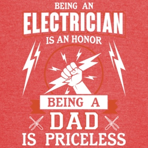 Being An Electrician Is An Honor Dad T Shirt - Vintage Sport T-Shirt