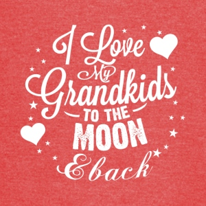 I love my grandkids to the moon back - Vintage Sport T-Shirt