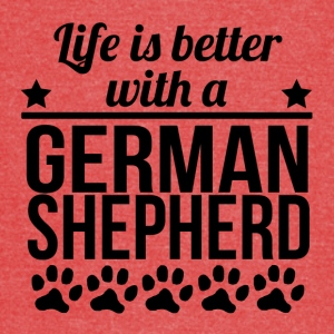 Life Is Better With A German Shepherd - Vintage Sport T-Shirt