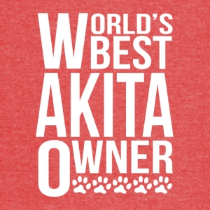 World's Best Akita Owner - Vintage Sport T-Shirt