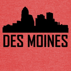 Des Moines Iowa City Skyline - Vintage Sport T-Shirt