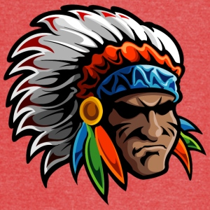colored_american_indian_chief - Vintage Sport T-Shirt