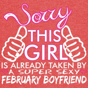 Sorry This Girls Already Taken February Boyfriend - Vintage Sport T-Shirt