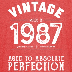 1987 Aged To Perfection 30th Birthday Present - Vintage Sport T-Shirt