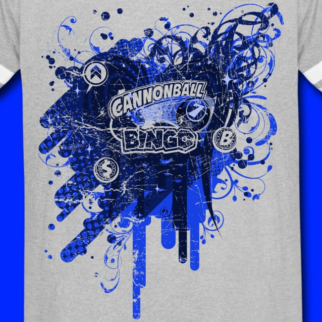 Vintage Cannonball Bingo Drip Blue