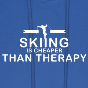 Skiing is cheaper than therapy - Men's Hoodie