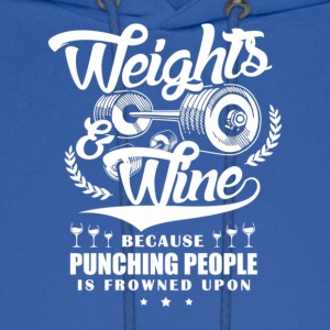 Weights And Wine - Men's Hoodie