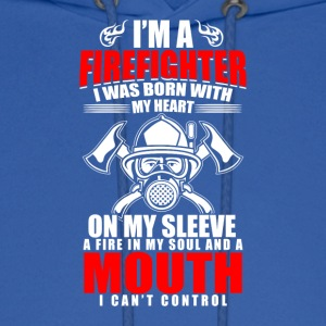 I'm A Firefighter With Heart And A Mouth - Men's Hoodie
