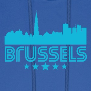 Retro Brussels Skyline - Men's Hoodie