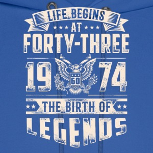 Life Begins At Forty Three Tshirt - Men's Hoodie