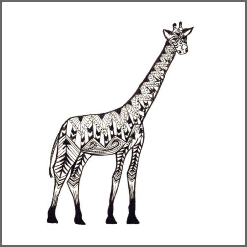 Zentangle Giraffe - Men's Hoodie