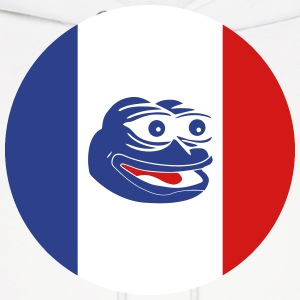 French Pepe the Frog Round - Men's Hoodie