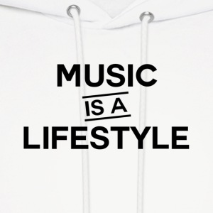 Music is a Lifestyle Design - Men's Hoodie