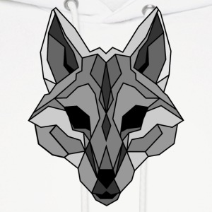 Lineart of a wolf / wolf gray - Men's Hoodie