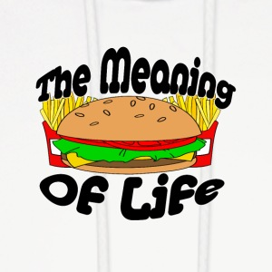 The Meaning of Life (Fast Food) - Men's Hoodie