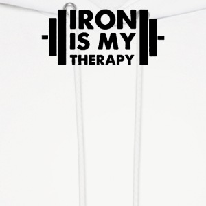 Iron is My Therapy - Men's Hoodie