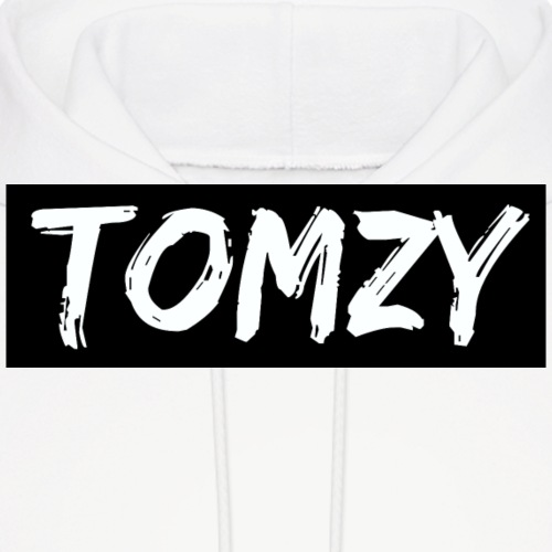 Tomzy Logo White - Men's Hoodie