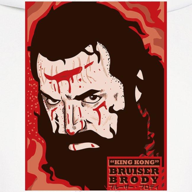 BRUISER BRODY Wrestling legend art print