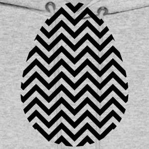 Black Easter Egg Chevron - Men's Hoodie
