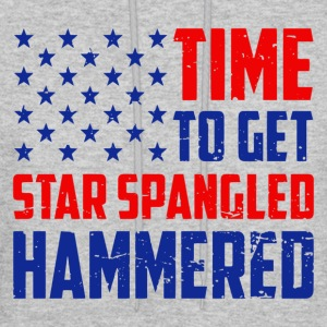 Time To Get Star Spangled Hammered - Men's Hoodie