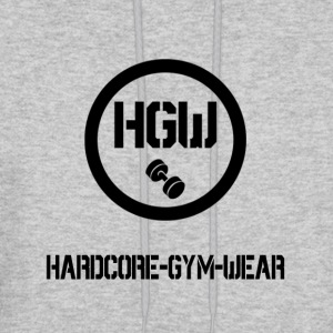 HARDCORE GYM WEAR Logo - Men's Hoodie