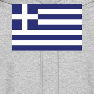 Flag of Greece Cool Greek Flag - Men's Hoodie