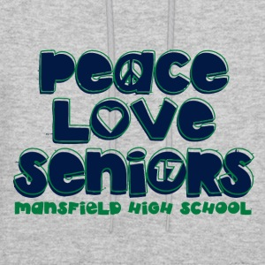 peace love seniors mansfield high 17 - Men's Hoodie