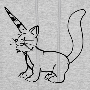 Cat Unicorn Drawing - Men's Hoodie