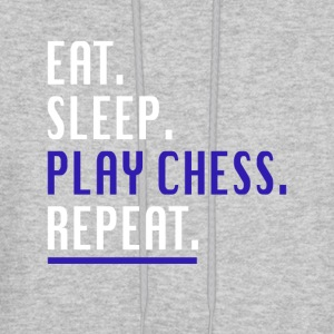 Cool Eat Sleep Play Chess Repeat Novelty Shirts - Men's Hoodie