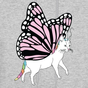Butterfly Cat Outline - Men's Hoodie