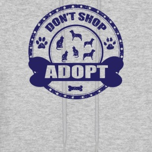 Dont Shop Adopt Pet Rescue Adoption - Men's Hoodie