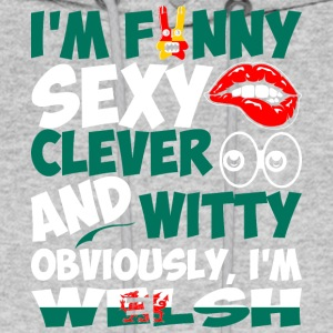 Im Funny Sexy Clever And Witty Im Welsh - Men's Hoodie