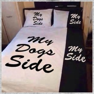 My side of the bed, my dogs side - Men's Hoodie