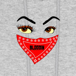 FEMALE BLOODIN FACE AND BANDANA - Men's Hoodie