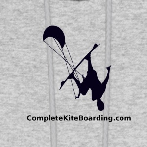 COMPLETE_KITE_BOARDING_kiter_b_and_w_gif - Men's Hoodie