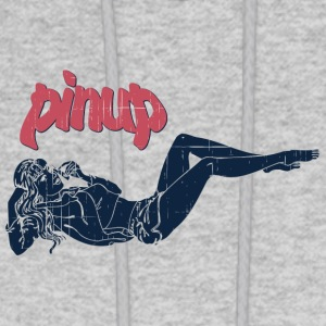 pinup_girl_talking_with_phone_vintage - Men's Hoodie