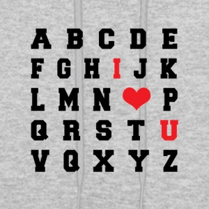 I LOVE YOU Alphabet - Men's Hoodie