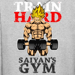 super saiyan goku saiyan's gym shirt - Men's Hoodie