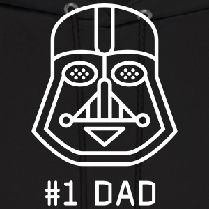 dad Father vader fatherday number One best Great f - Men's Hoodie