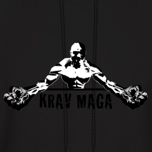 Krav Maga Fists (black and white) - Men's Hoodie